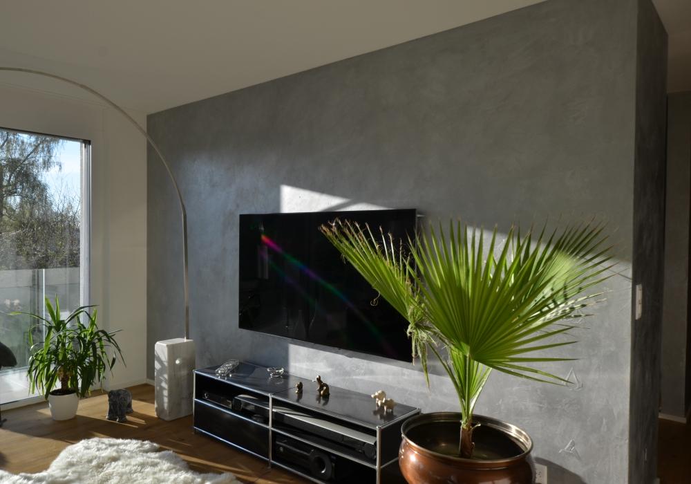 Wohnzimmer Wand Wohnung Birmensdorf ZH