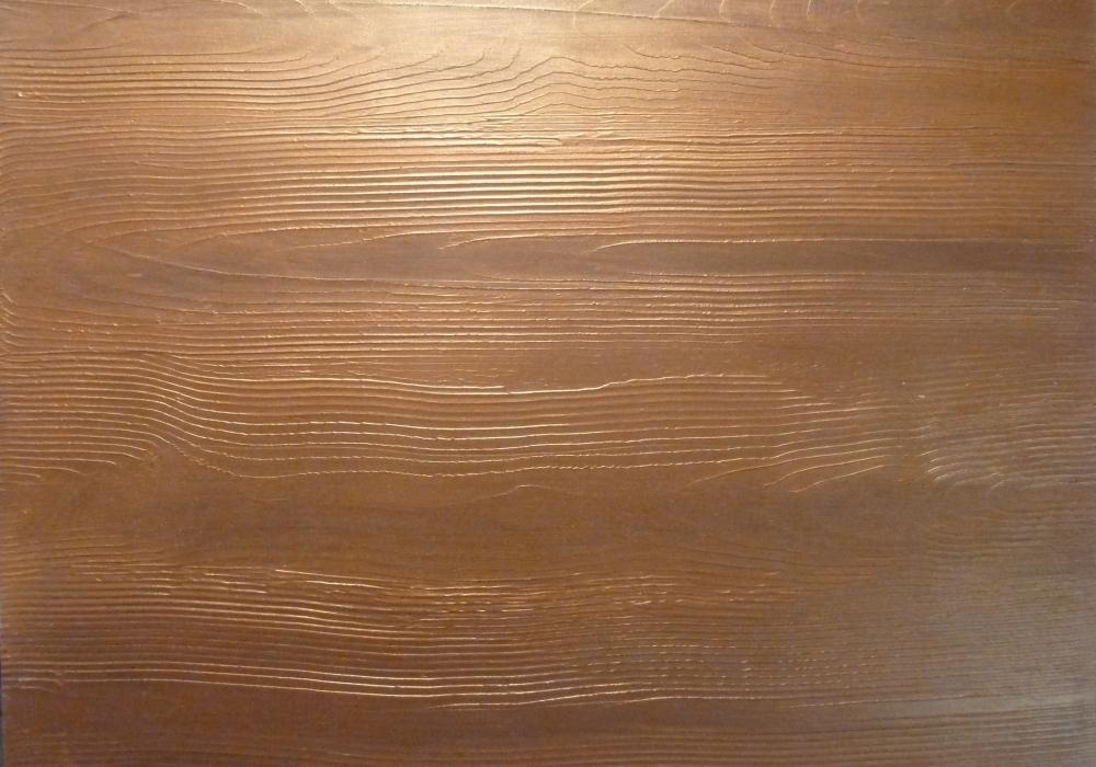 SP grau Holzimitation mit Bronce und Kupferlasur