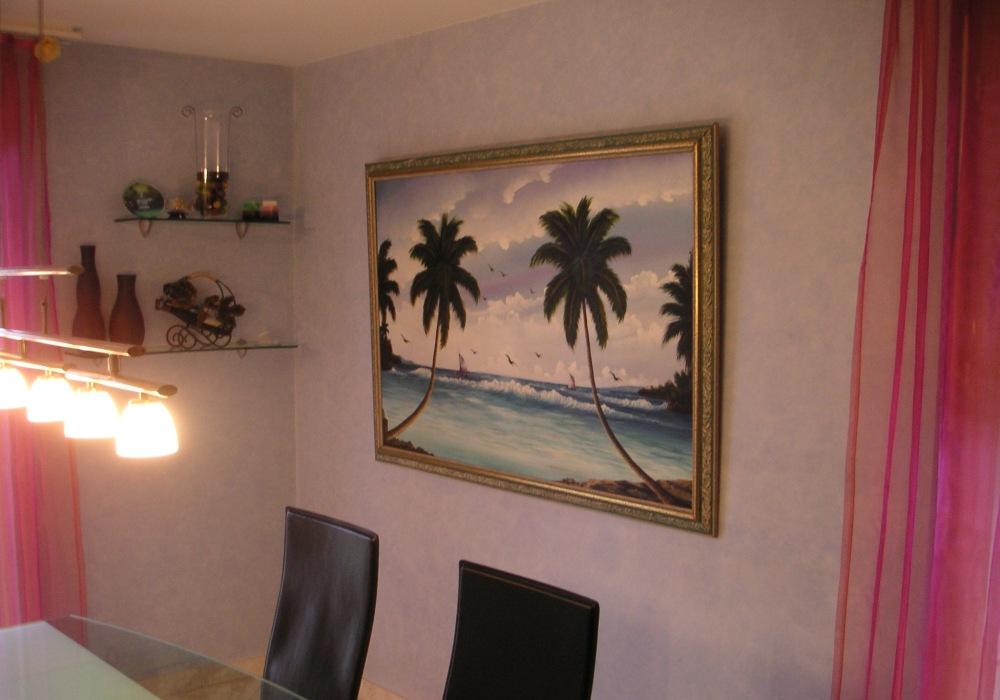 Stucco Antico blu, Esszimmer Wand DEFH Killwangen AG
